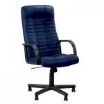 Кресло руководителя Nowy Styl Atlant нат. кожа, синяя, крестовина пластик