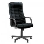 Кресло руководителя Nowy Styl Atlant нат. кожа, черная, крестовина пластик