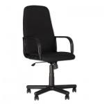 Кресло руководителя Nowy Styl Diplomat ткань, черная, крестовина пластик