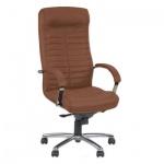 Кресло руководителя Nowy Styl Orion steel нат. кожа, коричневая, крестовина хром