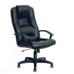 Кресло руководителя Бюрократ T-9906AXSN нат. кожа, черная, крестовина пластик