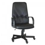 Кресло руководителя Самсон Менеджер нат. кожа, черная, крестовина пластик