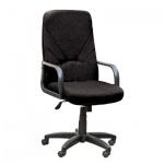 Кресло руководителя Nowy Styl Менеджер нат. кожа, черная, крестовина пластик