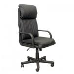 Кресло руководителя Самсон Надир нат. кожа, черная, крестовина пластик