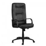 Кресло руководителя Самсон Сенатор нат. кожа, черная, крестовина пластик