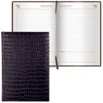 Ежедневник недатированный Brauberg Black Jack черный, А5, 168 листов, старинная кожа