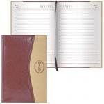 Ежедневник недатированный Brauberg De Luxe коричнево-бежевый, А5, 168 листов, комбинированная кожа
