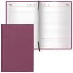 Ежедневник недатированный Brauberg Favorite бордовый, А5, 168 листов, под классическую кожу