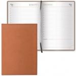 Ежедневник недатированный Brauberg Favorite коричневый, А5, 168 листов, под классическую кожу