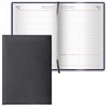 Ежедневник недатированный Brauberg Favorite черный, А5, 168 листов, под классическую кожу