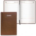 Ежедневник недатированный Brauberg Profile коричневый, А5, 168 листов, под фактурную кожу