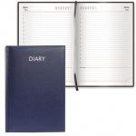 Ежедневник недатированный Brauberg Profile синий, А5, 168 листов, под фактурную кожу
