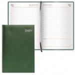 Ежедневник недатированный Brauberg Select зеленый, А5, 168 листов, под зернистую кожу