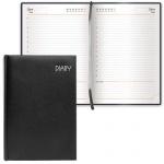 Ежедневник недатированный Brauberg Select черный, А5, 168 листов, под зернистую кожу