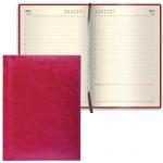 Ежедневник недатированный Brauberg Imperial бордовый, А6, 168 листов, под гладкую кожу