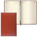 Ежедневник недатированный Brauberg Imperial коричневый, А6, 168 листов, под гладкую кожу