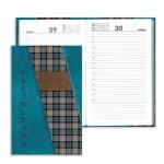 Ежедневник полудатированный Brauberg синяя шотландка, А5, 192 листа