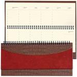Планинг недатированный Brauberg Cayman коричневый, 14х30.5см, 60 листов, комбинированная под крокодиловую и гладкую кожу