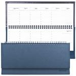 Планинг недатированный Brauberg Favorite темно-синий, 14х30.5см, 60 листов, под классическую кожу