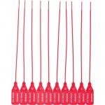 Пломбы пластиковые номерные красные, 220мм, 50шт