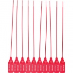 Пломба пластиковая номерная красная, 220мм, 50шт