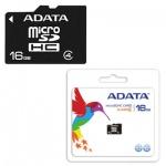 Карта памяти A-Data micro SDHC, 16Gb, 4мб/с, без адаптера SD