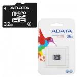 Карта памяти A-Data micro SDHC, 32Gb, 4мб/с, без адаптера SD