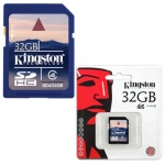 ����� ������ Kingston SDHC, 32Gb, 4��/�
