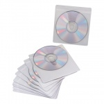Конверт для CD/DVD Brauberg 510197 прозрачный, на 1 диск, 10 шт/уп