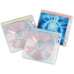 Конверт для CD/DVD Brauberg 510196 прозрачный, на 2 диска, 40 шт/уп, на  тканной основе