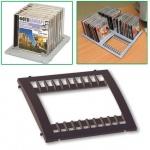 Подставка для CD/DVD Brauberg Smart черная, на 10 дисков