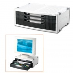 Подставка для принтера или монитора Brauberg 380х275х150мм, с 1 полкой и 3 ящиками