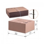 Короб упаковочный Т22 профиль В 10х22х17см, гофрокартон