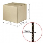 Короб упаковочный Т22 профиль В 37х37х27см, гофрокартон