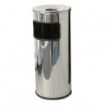 Урна-пепельница напольная Титан 30л, матовый металлик, К250НН