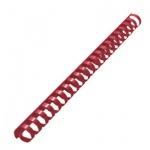 Пружины для переплета пластиковые Gbc красные, на 140-170 листов, 19мм, 100шт, кольцо