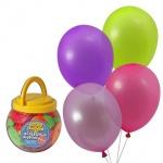 Воздушные шары Веселая Затея 12 неоновых цветов, 25см, 200шт, в банке, 1110-0000
