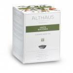 Чай Althaus Grun Matinee, зеленый, листовой, в пирамидках, 15 пакетиков