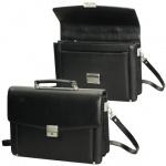 Портфель Alliance 280х385х110мм, черный, натуральная кожа