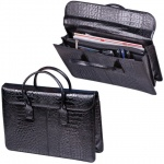 Портфель-сумка женская Baron черная, натуральная кожа