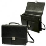 Портфель Alliance 280х380х100мм, черный, кожзам