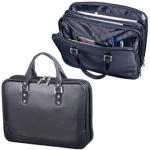 Портфель-сумка женская Alliance 380х270х100мм, чёрная, кожзам