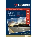 Фотобумага для струйных принтеров Lomond А4, 20 листов, 270 г/м2, суперглянцевая, 1106100