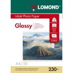 Фотобумага для струйных принтеров Lomond А4, 50 листов, 230г/м2, глянцевая, 102022
