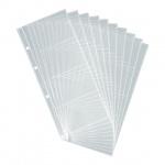 Блок карманов для визитниц Durable на 80 визиток, прозрачный, 10 шт/уп, 2387-19