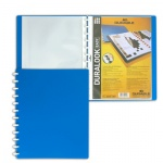 Папка файловая Durable Duralook Easy голубая, А4, на 20 файлов, 2426-06