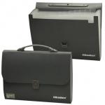 Портфель пластиковый Brauberg Comfort, 13 отделений, черный