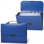 Портфель пластиковый Brauberg Energy синий, 330х256х32мм, 6 отделений