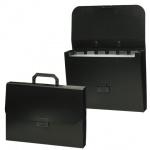Портфель пластиковый Brauberg Energy черный, 330х256х32мм, 6 отделений