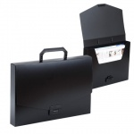 Портфель пластиковый Brauberg Energy черный, 256х330мм, без отделений